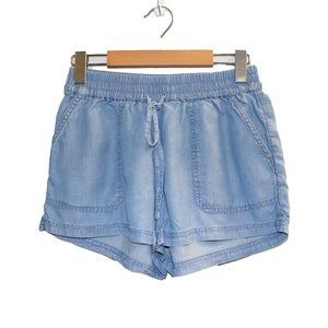 Aerie Blue 100% Lyocell Chambray Summer Shorts